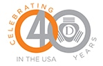 Daetwyler 40 years anniversary in the USA Logo