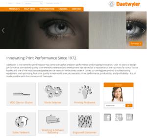 Daetwyler-usa.com homepage