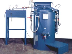 Renzmann dw series. The unit is easily maintained and also has continuous distillation capabilities depending on your needs.