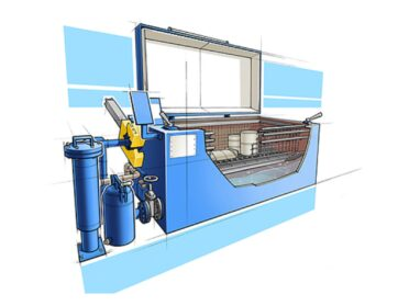 renzmann-type-130 Cleans printing press parts such as ink pans, ink containers, doctor blades and other parts with solvent