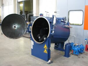 Renzmann Type 6090 Drum & Pail Washer. Cleans drums on the inside and outside