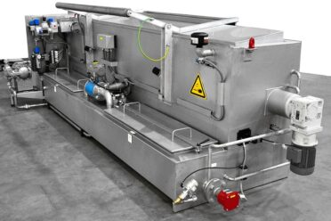 Parts Washing – renzmann flexplate cleaner. The type HA cleans gravure cylinders and anilox rolls using top-loading, closed stainless steel wash cabin